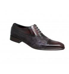 Zapato clásico piel florentik combinado con piel de serpiente